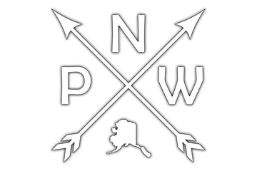 PNW Arrow Alaska Decal
