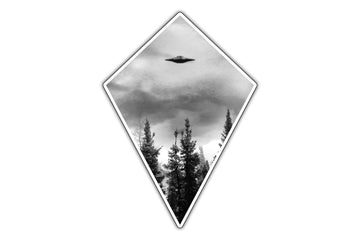 Real UFO Badge Sticker