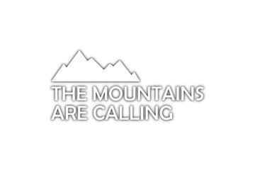 The Mountains Are Calling Vinyl Decal