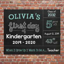 Load image into Gallery viewer, First Day Of School Chalkboard Poster