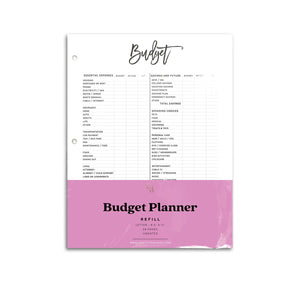 Budget Planner Inserts | City