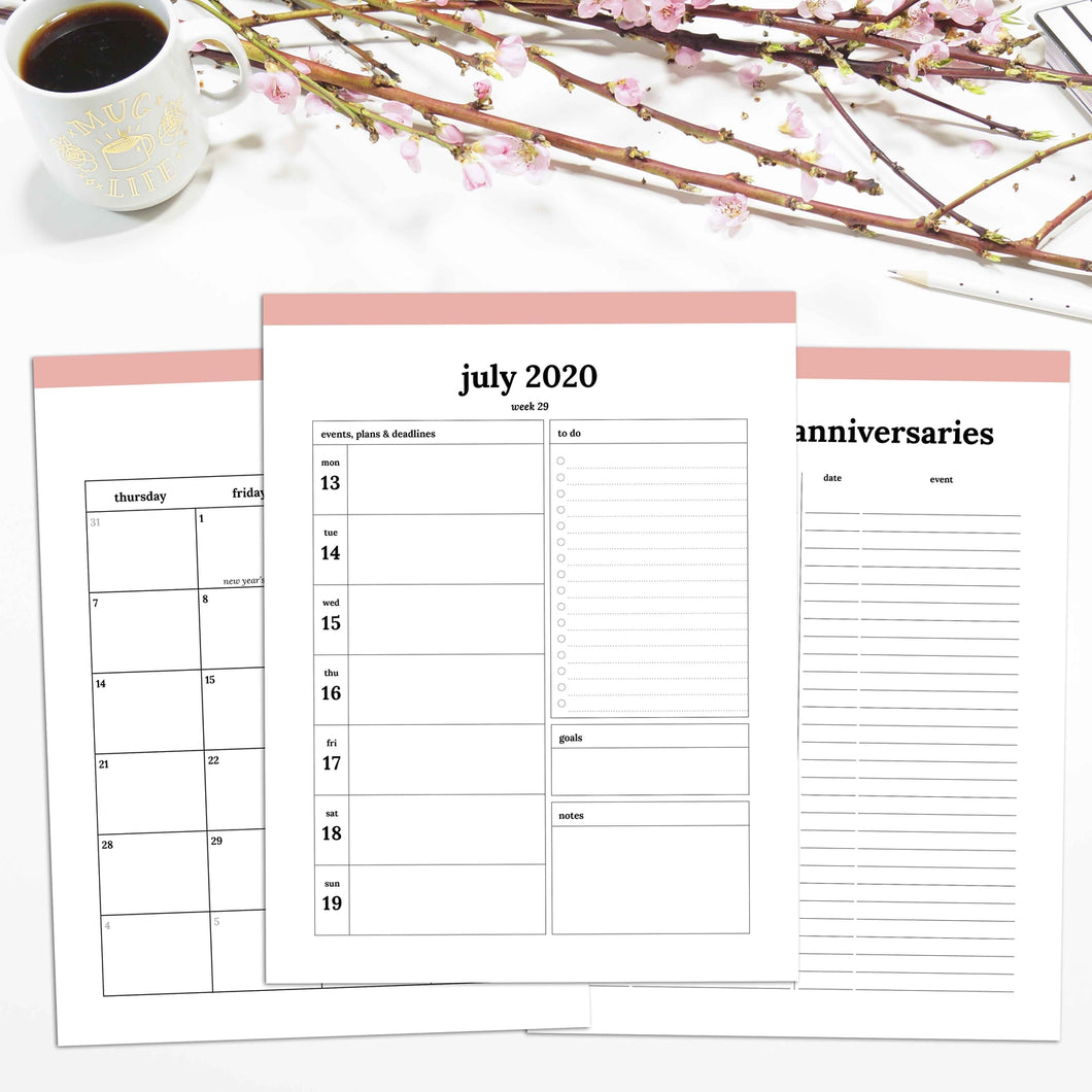 2020-2021 16 Month Planner | Classic-Rings and Disc Planner-Confetti Saturday