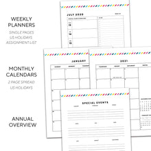 Load image into Gallery viewer, 2020-2021 16 Month Planner | Signature Stripe