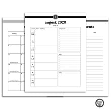 Load image into Gallery viewer, 2020-2021 Student Planner | Alpha Omicron Pi Monogram