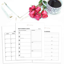 Load image into Gallery viewer, 2020-2021 Student Planner | Alpha Omicron Pi Rose Gold