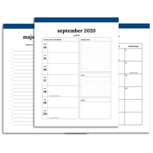 2020-2021 Student Planner | Classic-Rings and Disc Planner-Confetti Saturday