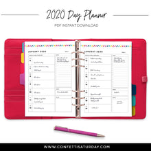 Load image into Gallery viewer, 2020 Agenda | Signature Stripe-Confetti Saturday