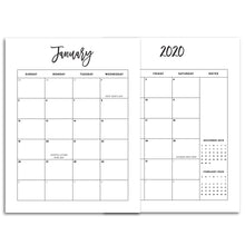 Load image into Gallery viewer, 2020 Monthly Calendars, MO2P | City