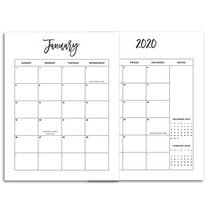 2020 Monthly Calendars, MO2P | City
