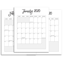 Load image into Gallery viewer, 2020 Monthly Calendars, Portrait | City