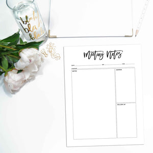 Meeting Planner Page Inserts, Simplified | City