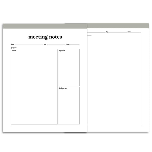 Meeting Planner Page, Simplified | Classic-Rings and Disc Planner-Confetti Saturday