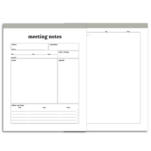 Meeting Planner Page, Detailed | Classic-Rings and Disc Planner-Confetti Saturday