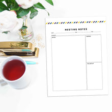 Load image into Gallery viewer, Meeting Planner Page, Simplified | Signature Stripe