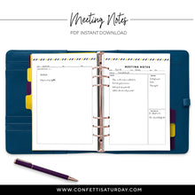Load image into Gallery viewer, Meeting Planner Pages-Confetti Saturday