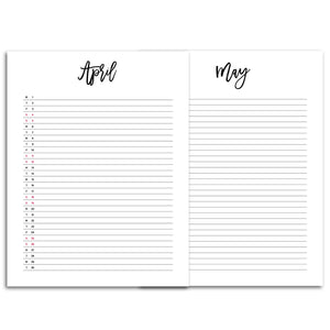 2020 Monthly List Planner | City