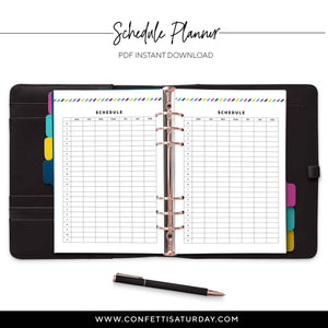 Schedule Planner Pages-Confetti Saturday