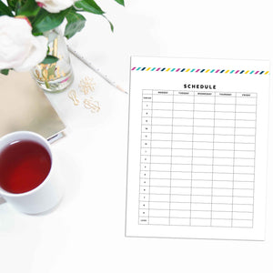 Schedule Planner, Work Week | Signature Stripe