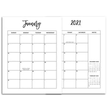 Load image into Gallery viewer, Monthly Planner Pages 2021 Calendar-Confetti Saturday