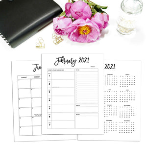 2021 Day Planner Inserts | City