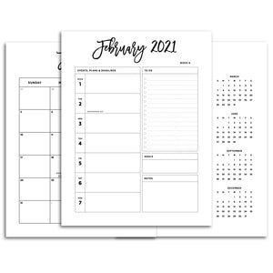 2021 Planner Pages for Retail Boutiques-Confetti Saturday