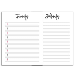 Monthly Planner List 2021 Inserts-Confetti Saturday