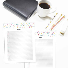 Load image into Gallery viewer, 2021 Monthly List Planner | Signature Confetti