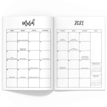 Load image into Gallery viewer, 2021 Monthly Planner TN-Travelers Notebook-Confetti Saturday