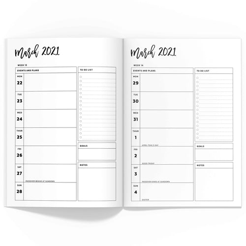 January - June 2021 Weekly Planner TN, Spring/Summer-Travelers Notebook-Confetti Saturday