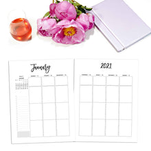 Load image into Gallery viewer, 2021 Weekly Planner Vertical, Week on Two Pages | City