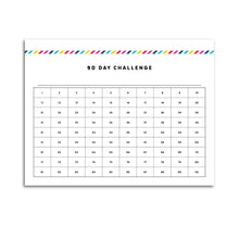 Load image into Gallery viewer, 90 Day Challenge Planner | Signature Stripe