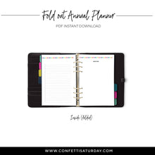 Load image into Gallery viewer, Fold Out Yearly Planner, Undated | Signature Stripe