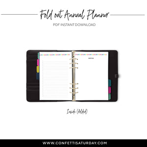 Fold Out Yearly Planner, Undated | Signature Stripe