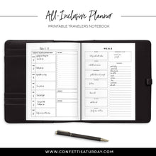 Load image into Gallery viewer, All-Inclusive Monthly Planner Travelers Notebook, Undated-Confetti Saturday