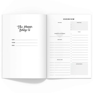 All-Inclusive Monthly Planner TN, Undated
