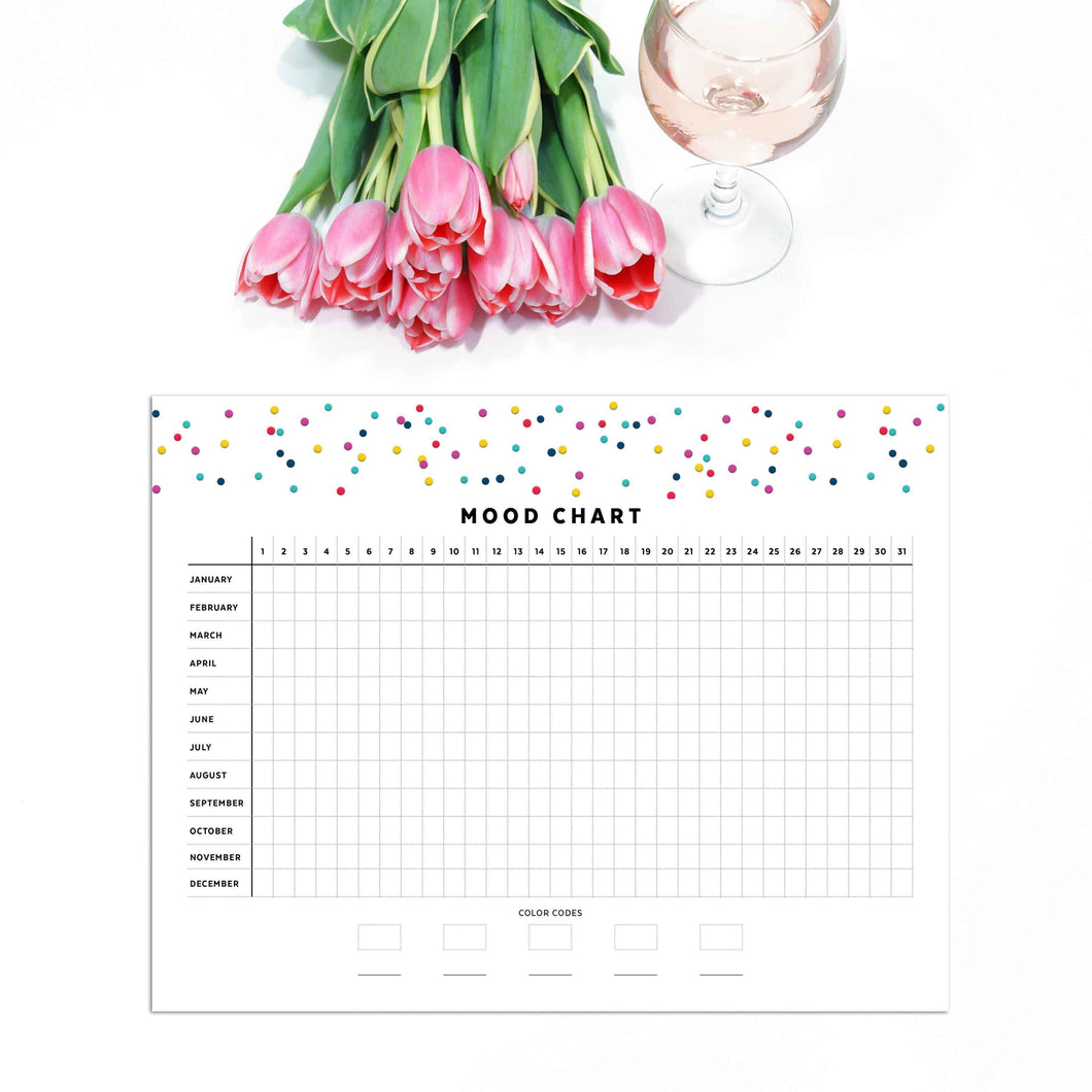 Yearly Mood Chart Planner Page | Signature Confetti