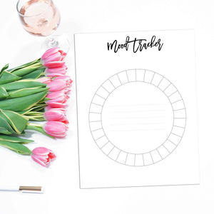 Monthly Mood Tracker Planner Page | City