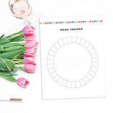 Load image into Gallery viewer, Monthly Mood Tracker Planner Page | Signature Stripe