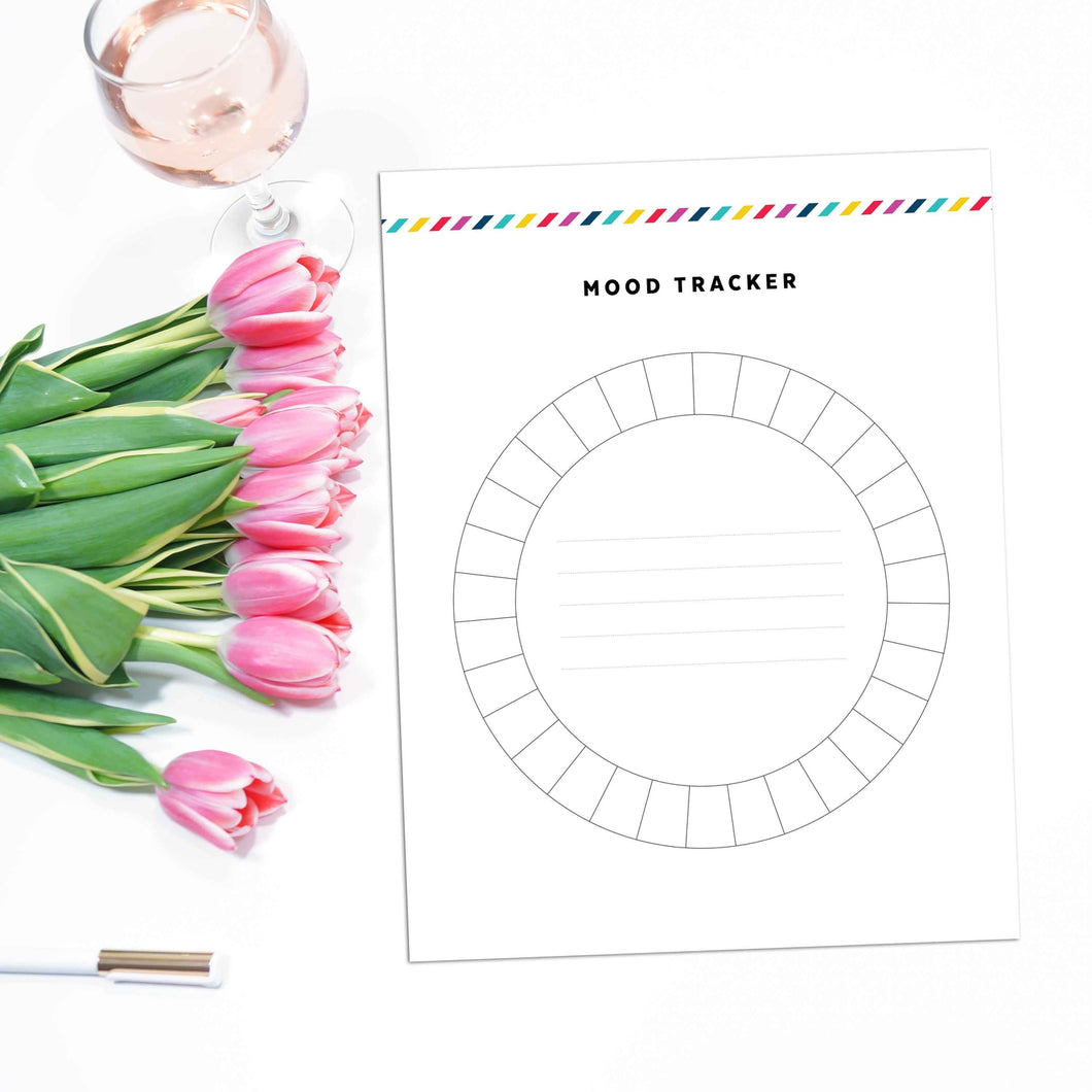 Monthly Mood Tracker Planner Page | Signature Stripe