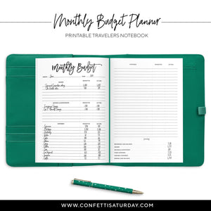 Budget Planner Travelers Notebook-Confetti Saturday