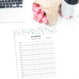 Afterpay Tracker | Signature Confetti