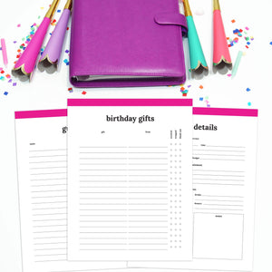 Birthday Party Planner | Classic-Rings and Disc Planner-Confetti Saturday