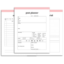 Load image into Gallery viewer, Blog Planner | Classic-Rings and Disc Planner-Confetti Saturday