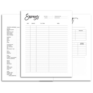 Budget Planner Pages, Printed or Printable-Confetti Saturday