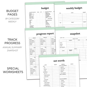 Budget Planner | Classic-Rings and Disc Planner-Confetti Saturday