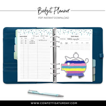 Load image into Gallery viewer, Printable Budget Planner | Signature Confetti-Confetti Saturday