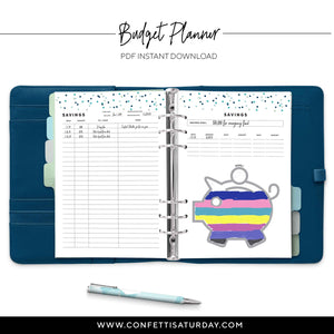Printable Budget Planner | Signature Confetti-Confetti Saturday