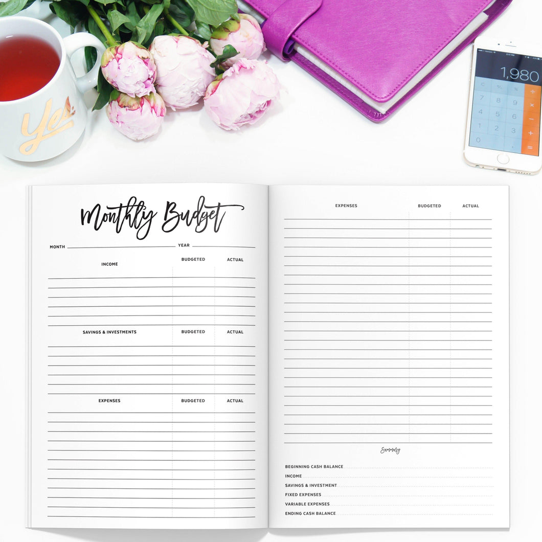 Budget Planner TN-Travelers Notebook-Budget planner TN to fit 10 different traveler's notebook sizes, including A5, Half Sheet, Passport, Personal, Pocket, Micro, A6, B6, Cahier, and Standard.-Confetti Saturday