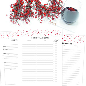 Christmas Planner Refill Pages