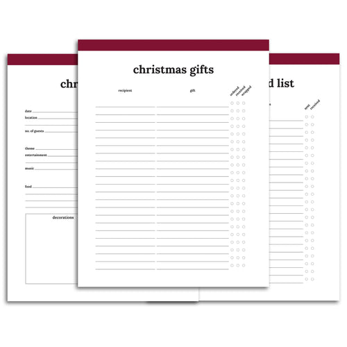 Christmas Planner | Classic-Rings and Disc Planner-Confetti Saturday